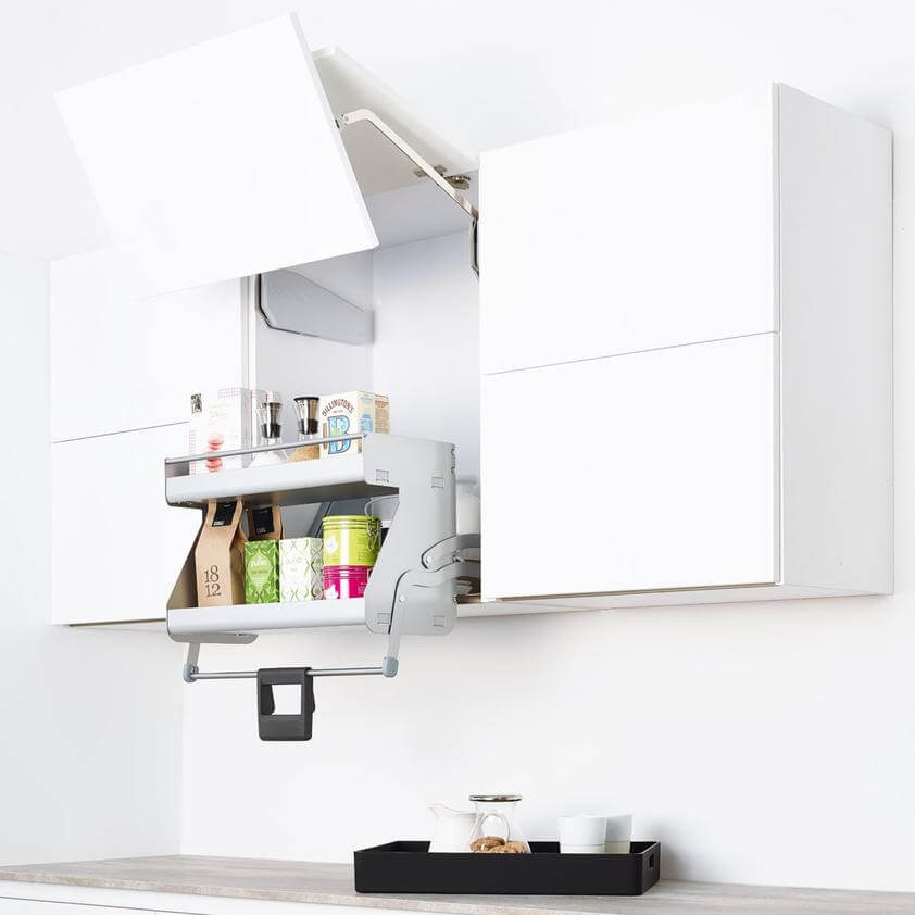 Pull Down Storage for wall kitchen cupboards