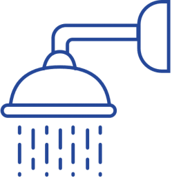 Blue Shower Icon
